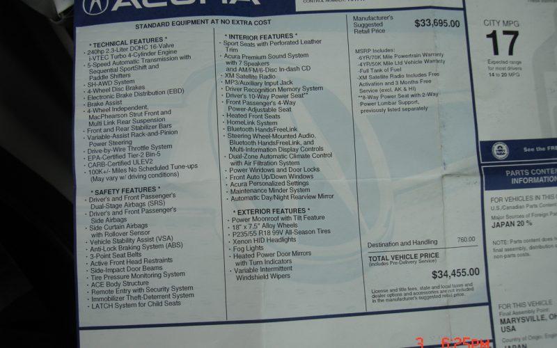 2009 ACURA RDX AWD DVD 012