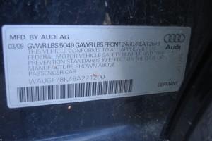 2009 AUDI A4 AWD  2.0L 063