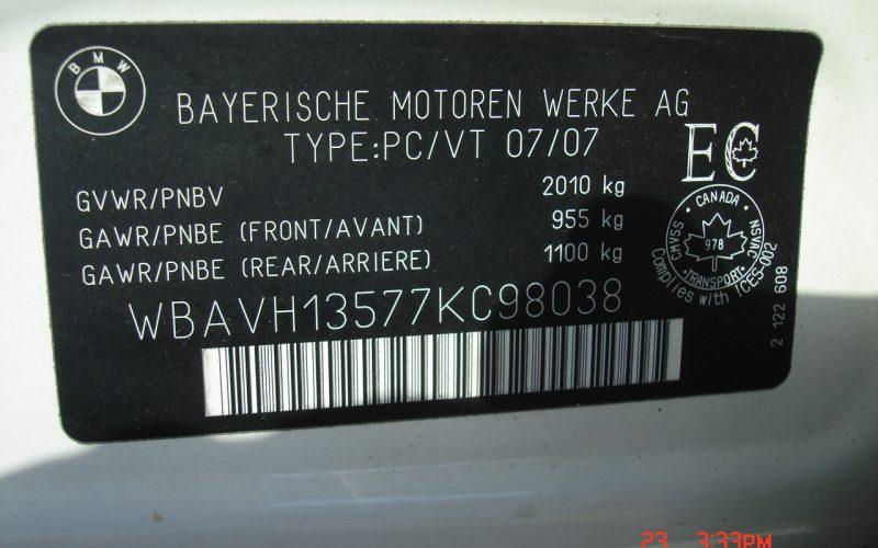2007 BMW 323I SPORT V6 2.5L 025