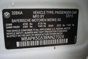 2011 BMW 328XI AWD V6 3.0L 014